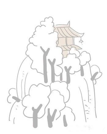 藏古寺 怎样用简笔画表现出来
